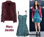 In Rachel Weisz Closet - Marc Jacobs Leather Jacket & Floral Dress