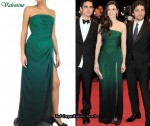 In Rachel Weisz' Closet - Valentino Strapless Green Chiffon Gown