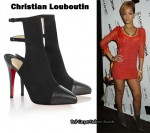 In Rihanna's Closet - Christian Louboutin Lynn 120 Backless Ankle Boots