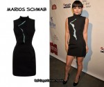 In Christina Ricci's Closet - Marios Schwab Crystal Front Dress