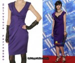 In Jae Shi Ra's Closet - Salvatore Ferragamo V-Neck Purple Dress