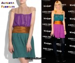 In Claudia Schiffer's Closet - Alberta Ferretti Colour-Block Dress