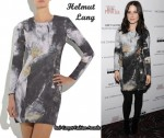 In Sophia Bush's Closet - Helmut Lang Powder Print Dress
