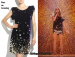 In Stacey Solomon's Closet - Diane von Furstenberg Embellished Velvet Dress