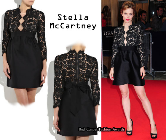 Who Rachel Mcadams Wearing A Stella Mccartney Lace Detailed Dress