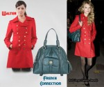 In Taylor Swift's Closet - Walter Military Red Coat & French Connection Bag