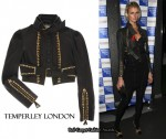 In Jacquetta Wheeler's Closet - Temperley London Cropped Leather Jacket