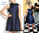 In Zara Phillips' Closet - Thread Social Silk-Blend Open-Back Dress