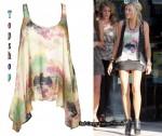 In Stephanie Pratt's Closet - Topshop Silk Drape Hem Vest