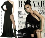 On The Victoria Beckham's Harper's Bazaar UK Cover - Haider Ackermann One-Sleeved Dress