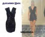In Cheryl Cole's Closet - Alexander Wang Draped Sequin Mini Dress
