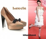 In Sandrine Pinna's Closet - Lanvin Bow Front Satin Pumps