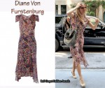 In Sienna Miller's Closet - Diane Von Furstenburg Cerilla Print Dress