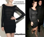In Cheryl Cole's Closet - Catherine Malandrino Knitted Off-The-Shoulder Dress