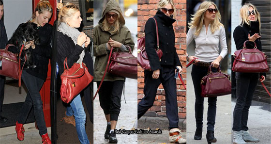prada white handbag leather - Needs An Intervention In 2010 - Sienna Miller And Her Prada Tote ...