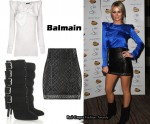 In Alex Curran's Closet - Balmain Blouse, Quilted Skirt & Boots