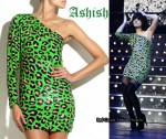 In Lily Allen's Closet - Ashish Sequined One-Shoulder Leopard Print Dress