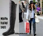 In Nicole Richie's Closet - Modern Vintage Shoes Above The Knee Boots