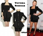 Just Arrived @ Net-A-Porter.com - Victoria's Beckham's Peplum Mini Dress