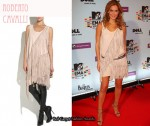 In Bar Refaeli's Closet - Roberto Cavalli Fringed Suede Tank Dress