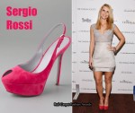 In Claire Danes' Closet - Sergio Rossi Peep-Toe Sling Backs