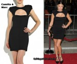 In Fergie's Closet - Camilla & Marc Cut-Out Mini Dress