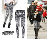 In Gwen Stefani's Closet - Alexander McQueen Houndstooth Leggings