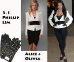 In Kim Kardashian's Closet - Elizabeth And James Belted Blazer & 3.1 Phillip Lim Studded Gloves