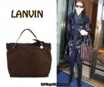 In Celine Dion's Closet - Lanvin Quilted Nappa Suede Tote