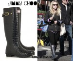 In Kristen Bell's Closet - Jimmy Choo Crocodile-Print Wellington Boots