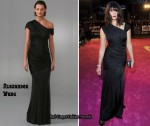 In Gemma Arterton's Closet - Alexander Wang Black Gown