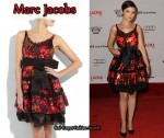 In Ginnifer Goodwin's Closet - Marc Jacobs Palm Sequin Cocktail Dress