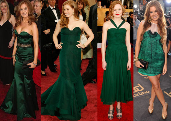 Red Hair Green Dress Red Carpet Perfection Red