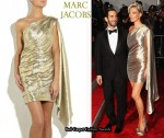 In Kate Moss' Closet - Marc Jacobs Asymmetric Draped Lamé Dress