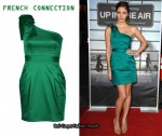 In Kayla Ewell's Closet - French Connection Green Asymmetrical Dress