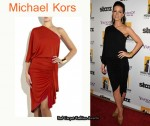 In Kate Beckinsale's Closet - Michael Kors Ruched Asymmetric Jersey Dress