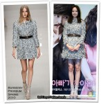 "Runway To ""Happy Change"" Press Conference - Lee Na Young In Burberry Prorsum"