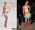 In Joss Stone's Closet - Herve Leger Rainbow Airbrush Dress