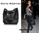 In Leona Lewis' Closet - Stella McCartney Chain-Embellished Faux Leather Bag