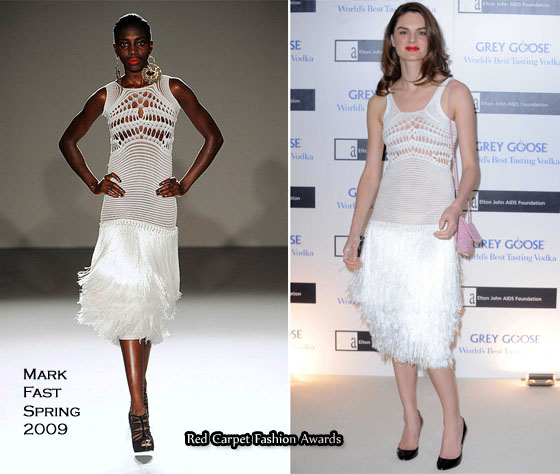 382f035e01879b ... white dress from his Spring 2009 collection and prior to that Rihanna  wore an orange dress from his Fall 2009 collection. Leighton Meester wore a  black ...