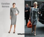 In Renee Zellweger's Closet - Carolina Herrera Wool Melange Dress