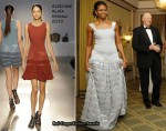 Runway To Nobel Banquet - Michelle Obama In Azzedine Alaia