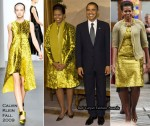 Runway To Nobel Peace Prize Award Ceremony - Michelle Obama In Calvin Klein