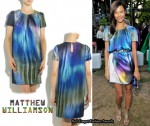 In Thandie Newton's Closet - Matthew Williamson Ombré Satin Dress