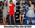 Promotional Tour Star of 2009 & Most Consistent In 2009 - Zoe Saldana