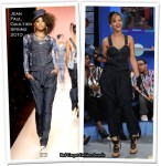 Runway To BET's 106 & Park - Rihanna In Jean Paul Gaultier
