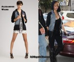 In Rihanna's Closet - Alexander Wang Denim Hooded Jacket