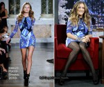 "Sarah Jessica Parker Promoting  ""Did You Hear About The Morgans?"" Wearing Emilio Pucci & Chanel"