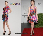 In Carey Mulligan's Closet - Thakoon Silk Watercolor-Print Dress