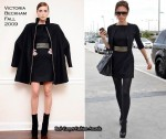 Runway To LAX & Heathrow Airport - Victoria Beckham In Victoria Beckham Collection And Loewe